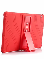 cheap -Case For Huawei MediaPad Huawei MediaPad T3 10(AGS-W09, AGS-L09, AGS-L03) Shockproof / with Stand Back Cover Solid Colored Soft Silicone