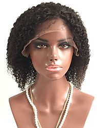 cheap -Virgin Human Hair Lace Front Wig Layered Haircut Rihanna style Brazilian Hair Curly Black Wig 130% Density with Baby Hair African American Wig Women's Short Human Hair Lace Wig Aili Young Hair