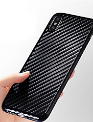 cheap -Case For Apple iPhone X / iPhone 8 Plus / iPhone 8 Ultra-thin / Embossed Back Cover Lines / Waves Soft Carbon Fiber