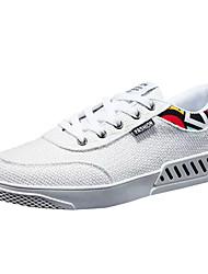 cheap -Men's Linen Summer Comfort Sneakers Slogan Black / White / Beige / Outdoor