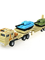 cheap -1:64 Toy Car Military Chariot Transporter Truck Construction Truck Set Military Vehicle City View Cool Exquisite Metal Mini Car Vehicles Toys for Party Favor or Kids Birthday Gift 1 pcs
