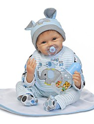 cheap -NPKCOLLECTION NPK DOLL Reborn Doll Baby Boy 24 inch Silicone - Newborn Gift Child Safe Non Toxic Artificial Implantation Blue Eyes Tipped and Sealed Nails Kid's Boys' / Girls' Toy Gift