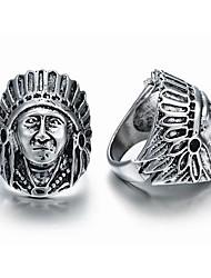 Недорогие -Муж. Открытое кольцо 1шт Серебряный Серебрянное покрытие Сплав Винтаж европейский Steampunk Карнавал Маскарад Бижутерия