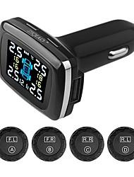 cheap -ZIQIAO Wireless Tire Pressure Gauge Smart Real Time Digital Sensor Car Tire Pressure Alarm Monitor System TPMS