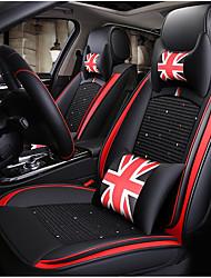 Недорогие -черный красный британский автомобильный чехол на сиденье с 2 подголовниками, 2 подушками на талию и 1 рулевым колесом для 5