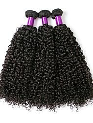 cheap -3 Bundles Brazilian Hair Curly Human Hair Natural Color Hair Weaves / Hair Bulk Human Hair Extensions 8-28 inch Natural Black Human Hair Weaves Fashionable Design Best Quality Hot Sale Human Hair