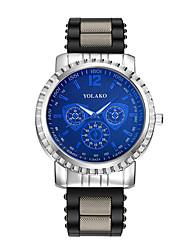 cheap -Men's Wrist Watch Quartz Silicone Black / Blue / Red Casual Watch Analog Fashion - White / Red White / Gold Silver / Blue