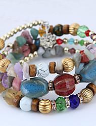 cheap -Women's Burgundy Bead Bracelet Wrap Bracelet Layered Bohemian European Fashion Resin Bracelet Jewelry Red / Green / Blue For Daily