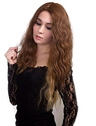 cheap -Synthetic Wig Matte Middle Part Wig Long Strawberry Blonde / Medium Auburn Natural Black Medium Brown Synthetic Hair Women's 100% kanekalon hair Black StrongBeauty