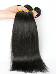 cheap -3 Bundles Indian Hair Straight Human Hair Natural Color Hair Weaves / Hair Bulk Human Hair Extensions 8-28 inch Natural Color Human Hair Weaves Fashionable Design New Arrival Human Hair Extensions