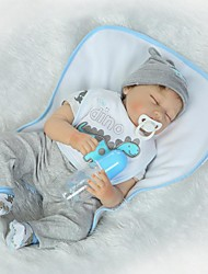 cheap -NPKCOLLECTION NPK DOLL Reborn Doll Baby Boy 24 inch Silicone - Newborn Gift Hand Made Child Safe Non Toxic Tipped and Sealed Nails Kid's Boys' / Girls' Toy Gift
