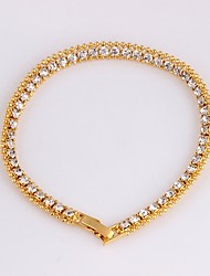 cheap -Women's Bracelet Tennis Chain Dainty Ladies Korean Fashion 18K Gold Plated Bracelet Jewelry Gold For Party Gift