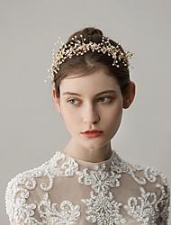 cheap -Imitation Pearl Headbands with Flower 1 Piece Wedding / Party / Evening Headpiece