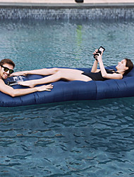 cheap -Air Bed Outdoor Waterproof Portable Compact Inflatable Terylene 226*70*46 cm Beach Camping Traveling All Seasons Dark Blue Blue Grey
