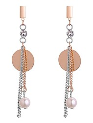 cheap -Women's Drop Earrings Ladies Fashion Imitation Pearl Earrings Jewelry Gold For Ceremony Going out 1 Pair