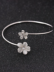 cheap -Women's Opal Bracelet Bangles Mismatched Flower Fashion Cute Rhinestone Bracelet Jewelry Gold / Silver For Party Date