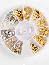 cheap -1 pcs Glitter Powder Nail Jewelry Fashionable Design nail art Manicure Pedicure Daily Wear Metallic / Punk Lolita