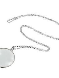 Недорогие -декоративное моноклевое ожерелье с лупой увеличительное стекло кулон золото серебро ожерелье цепи ожерелье для женщин ювелирные изделия