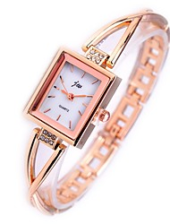 cheap -Women's Bracelet Watch Wrist Watch Gold Watch Quartz Stainless Steel Silver / Gold Chronograph Casual Watch Lovely Analog Ladies Bangle Elegant - Gold Silver One Year Battery Life