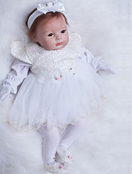 cheap -OtardDolls Reborn Doll Girl Doll Baby Girl 22 inch Silicone - Newborn lifelike Hand Made Child Safe Non Toxic Hand Rooted Mohair Kid's Girls' Toy Gift / Artificial Implantation Brown Eyes