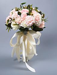 abordables -Fleurs de mariage Bouquets Mariage Comme Soie Satin / Tissus 11-20 cm
