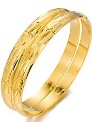 cheap -2pcs Women's Bracelet Bangles Cuff Bracelet Sculpture Ladies Ethnic Gold Plated Bracelet Jewelry Gold For Party Gift