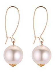 cheap -Women's Drop Earrings Sculpture Ladies Fashion Imitation Pearl Earrings Jewelry Gold / White For Daily School 1 Pair