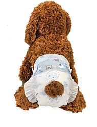 Недорогие -Собаки Чистка Ткань Наборы для шерсти Салфетки Компактность Сохраняет тепло Складной Животные Товары для ухода за животными Белый