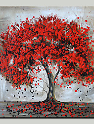 cheap -Mintura® Hand Painted Red Tree Oil Paintings On Canvas Modern Abstract Flower Wall Art Pictures For Home Decoration Ready To Hang