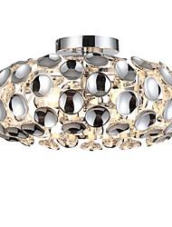 cheap -3-Light 48 cm Flush Mount Lights Metal Crystal Electroplated Globe / Modern 110-120V / 220-240V