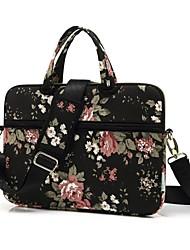 Недорогие -сумки на ремне сумки цветок холст сумка для ноутбука для MacBook Air 13,3 / MacBook Pro 13,3 15,4 / новый MacBook 13,3 15,4 с сенсорной панелью