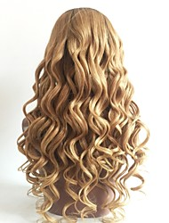 cheap -Remy Human Hair U Part Wig Layered Haircut Beyonce style Brazilian Hair Wavy Blonde Wig 130% Density with Baby Hair Color Gradient Dark Roots Women's Short Medium Length Long Human Hair Lace Wig Aili