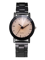 cheap -Couple's Wrist Watch Quartz Stainless Steel Black Chronograph Casual Watch Analog Classic Bangle Elegant - Black Beige One Year Battery Life