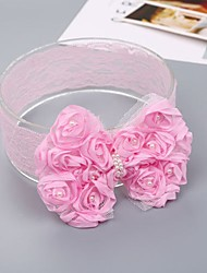 cheap -Kids Girls' Sweet Daily Bowknot Lace Rayon Hair Accessories White / Pink One-Size / Headbands