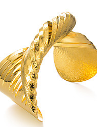 cheap -Women's Bracelet Bangles Cuff Bracelet Sculpture Ladies Ethnic Gold Plated Bracelet Jewelry Gold For Party Gift