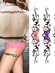 cheap -3 pcs Tattoo Stickers Temporary Tattoos Flower Series / Romantic Series Body Arts Arm / Shoulder