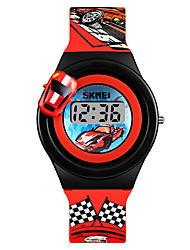 cheap -SKMEI Men's Women's Wrist Watch Digital Watch Digital New Design Lovely PU Band Digital Fashion Minimalist Red / Grey / Yellow - Gray Yellow Red One Year Battery Life