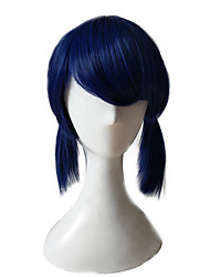 cheap -Synthetic Wig Curly Minaj Layered Haircut Wig Long Blue Synthetic Hair Women's Party Blue