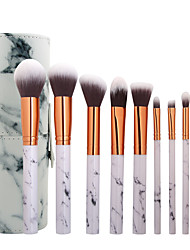 cheap -Professional Makeup Brushes Blush Brush 10-Pack Full Coverage Travel Size Marble Synthetic Hair Plastic for Makeup Brushes Eyeliner Brush Blush Brush Makeup Brush Set Powder Brush