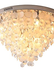 cheap -QIHengZhaoMing 10-Light 50 cm Flush Mount Lights Crystal Shell Electroplated Modern 110-120V / 220-240V