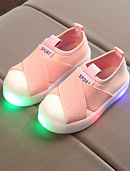 cheap -Girls USB Charging  LED / Comfort / LED Shoes Canvas Loafers & Slip-Ons Toddler(9m-4ys) / Little Kids(4-7ys) Gore / LED Black / Pink / Gray Spring &  Fall / Spring & Summer