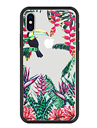 cheap -Case For Apple iPhone X / iPhone 8 Plus / iPhone 8 Pattern Back Cover Plants / Animal / Tree Hard Acrylic