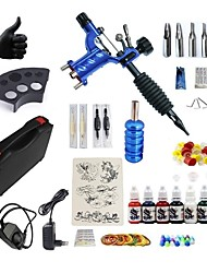 cheap -BaseKey Tattoo Machine Starter Kit - 1 pcs Tattoo Machines with 7 x 15 ml tattoo inks, Professional, Kits, New Aluminum Alloy Charger Direct Case Included 20 W 1 rotary machine liner & shader