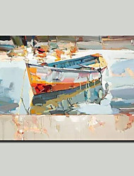 cheap -Mintura® Hand Painted Abstract Boat Oil Painting on Canvas Modern Wall Art Picture for Home Decoration Ready To Hang