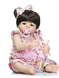 cheap -NPKCOLLECTION NPK DOLL Reborn Doll Girl Doll Baby Girl 24 inch Full Body Silicone Silicone Vinyl - Newborn lifelike Gift Hand Made Child Safe New Design Kid's Girls' Toy Gift / Non Toxic