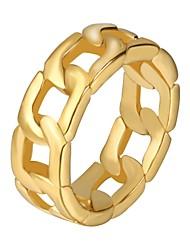 Недорогие -Муж. Кольцо на кончик пальца 1шт Золотой Черный Серебряный Нержавеющая сталь Геометрической формы Мода Хип-хоп Подарок Повседневные Бижутерия
