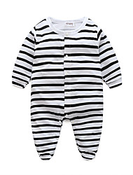 cheap -3 Pieces Baby Girls' Active Daily Black & White Solid Colored Retro Short Sleeves Linen Bodysuit White / Toddler