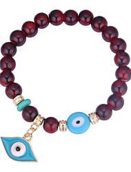 cheap -Women's Burgundy Hawks Eye Stone Bead Bracelet Eyes Ladies Stylish Acrylic Bracelet Jewelry Black / Red / Blue For Ceremony Birthday