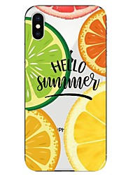 cheap -Case For Apple iPhone X / iPhone 8 Plus / iPhone 8 Transparent / Pattern Back Cover Food / Fruit Soft TPU