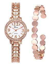 cheap -Women's Dress Watch Bracelet Watch Diamond Watch Quartz cuff Stainless Steel Silver 30 m Creative Analog Ladies Fashion Elegant - Gold Black Silver